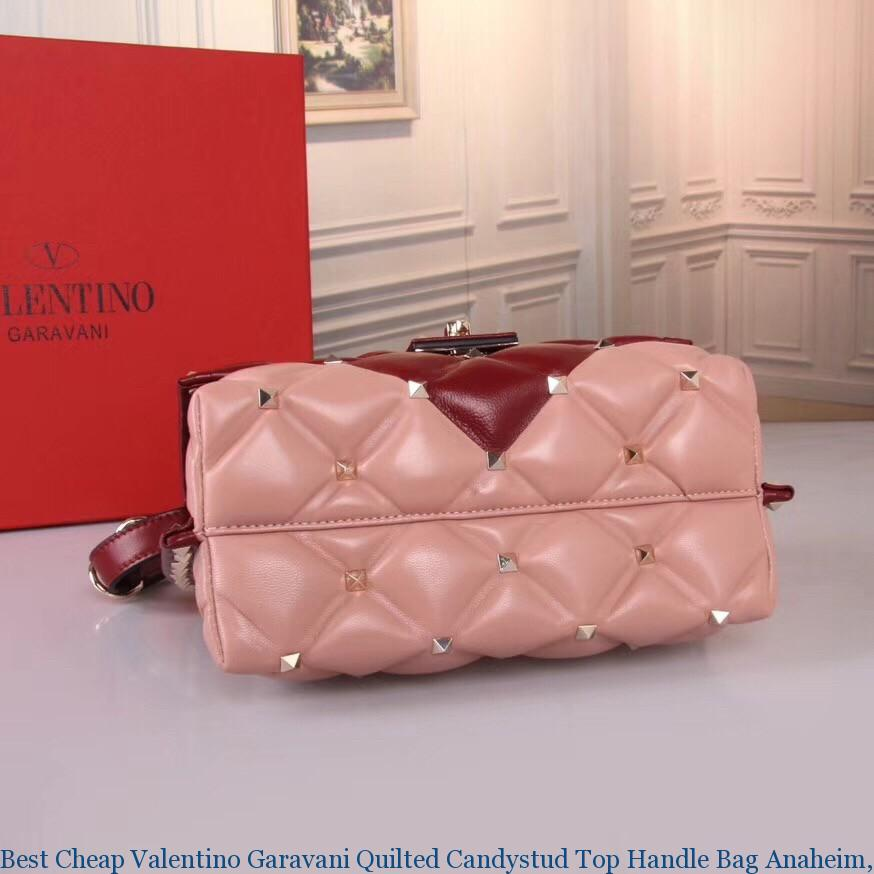 d87109ccb1 Best Cheap Valentino Garavani Quilted Candystud Top Handle Bag ...