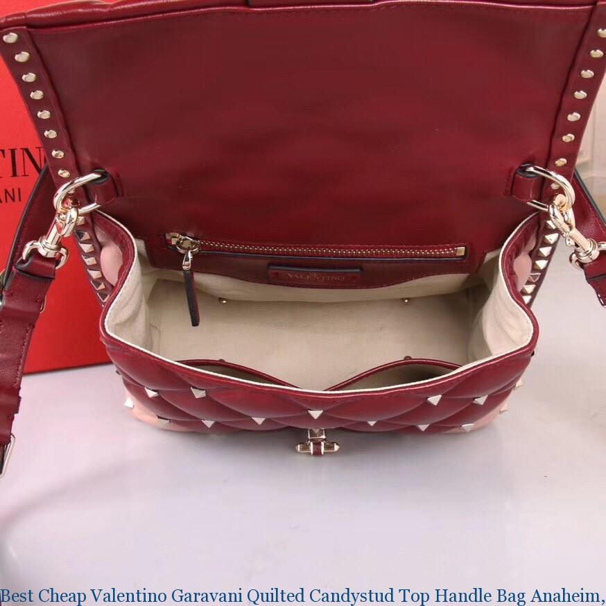 554ade414 Best Cheap Valentino Garavani Quilted Candystud Top Handle Bag ...