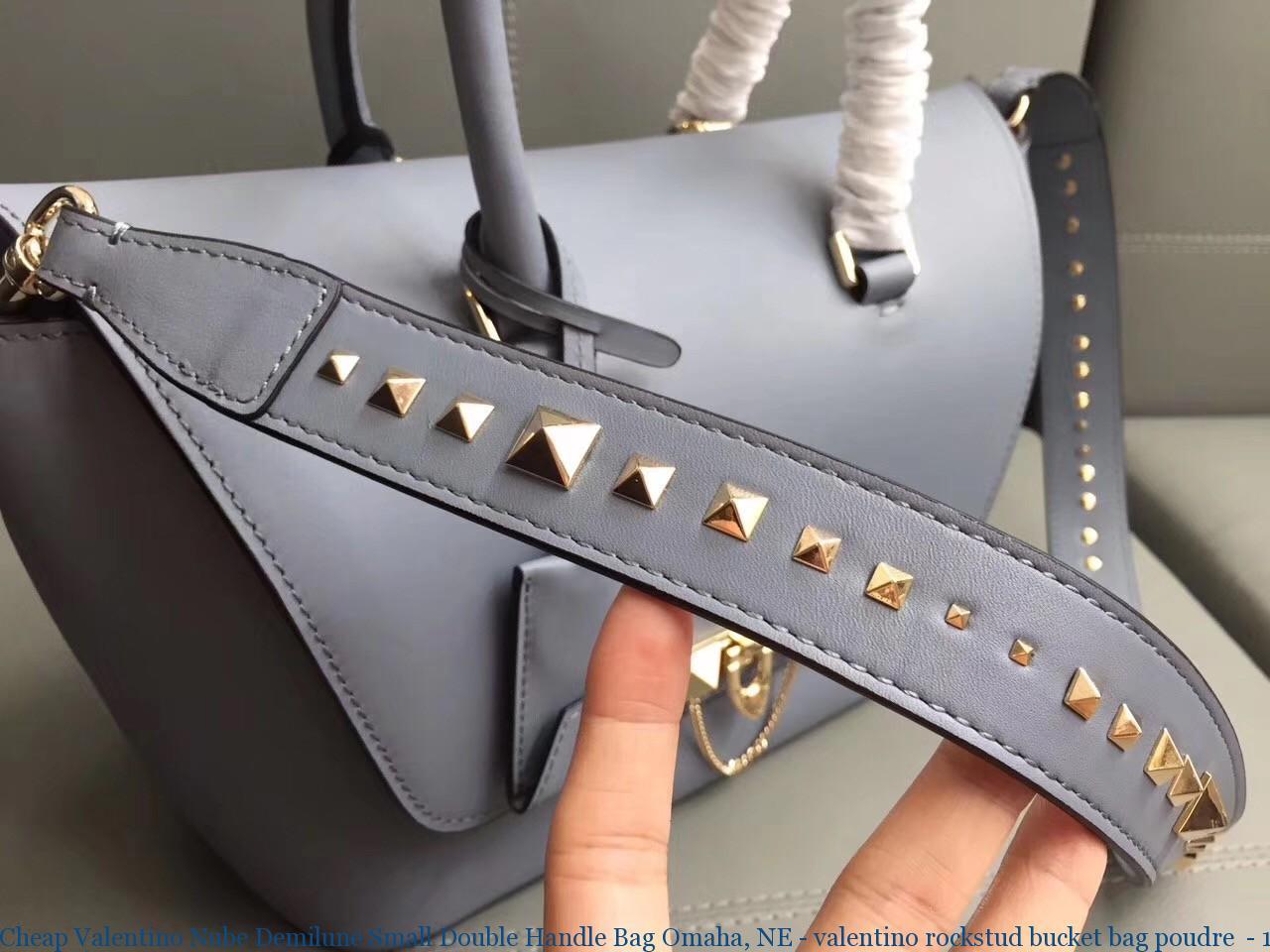 55e06f379ff Cheap Valentino Nube Demilune Small Double Handle Bag Omaha, NE - valentino  rockstud bucket bag poudre - 1153