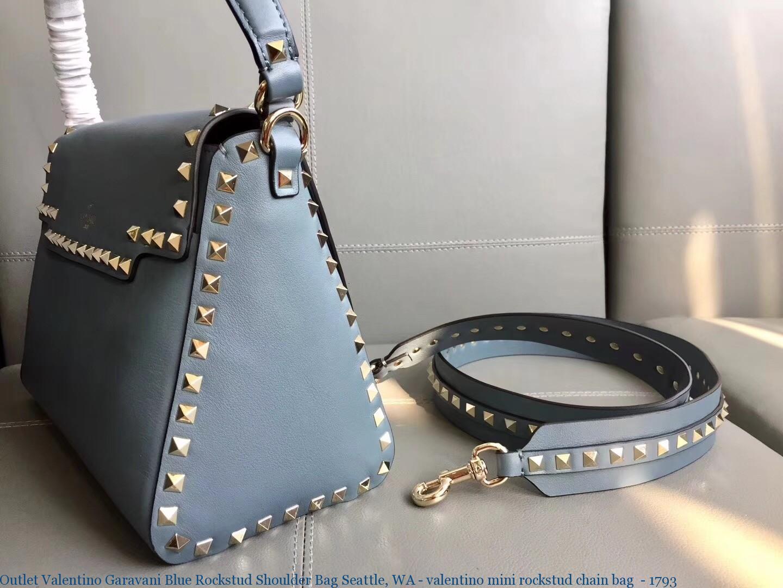 feaee6583da Outlet Valentino Garavani Blue Rockstud Shoulder Bag Seattle, WA -  valentino mini rockstud chain bag - 1793